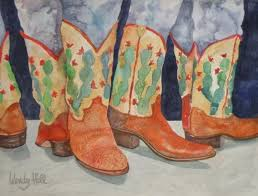 paintings of boots