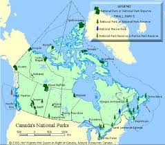national parks of canada map