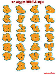 mr wiggles graffiti alphabets