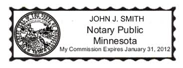 notary rubber stamp