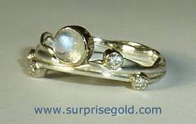 moonstone and diamond ring
