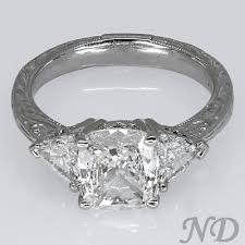 cushion cut antique engagement ring