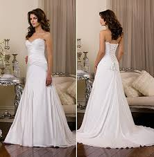 plain wedding dress
