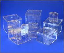 clear perspex boxes