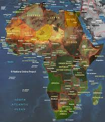 large maps of africa