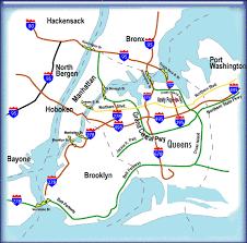 map of nj and ny
