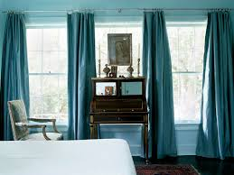 blue and brown drapes