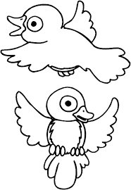 pictures of birds to colour in