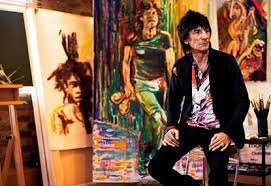 ron wood painting