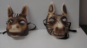 paper mache animal masks