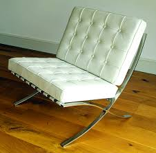 cream barcelona chair