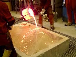 molten bronze