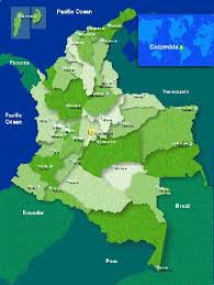 geographical map of colombia