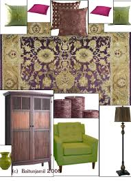 purple and green rooms