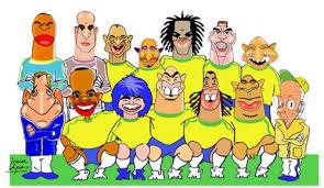 cartoon football team