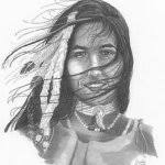 native american sketch