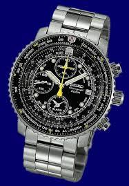 seiko chronograph flight alarm