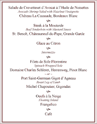 french menu samples