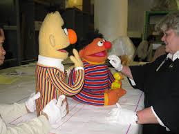 bert and ernie puppets