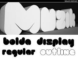 bold typefaces
