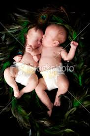 pictures of infant twins