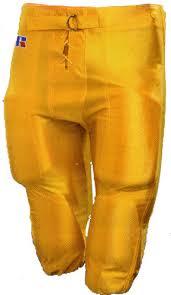 gold football pants