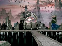 futuristic city images