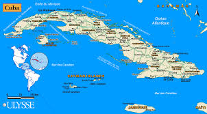 geographic map of cuba