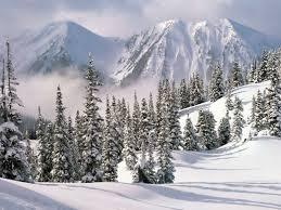 عکس زمستان در کوه ها