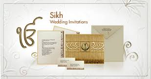 sikh wedding card