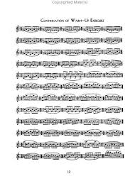 clarinet music sheet