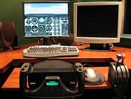 flight sim desk