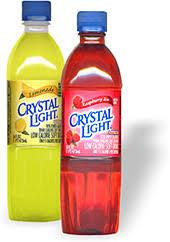 crystal light bottle