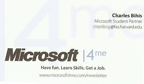 business cards microsoft