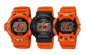 g shock gulfman orange