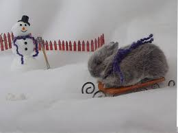 bunnies in the snow