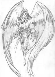 angel wings sketches