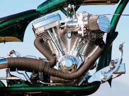 custom chopper exhaust