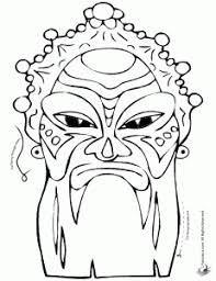 coloring pages masks