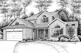pen and ink drawings of houses