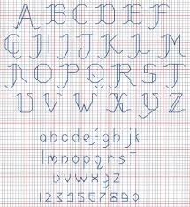 cross stitch alphabets
