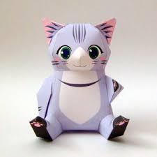 paper model cat