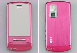 pink lg shine phones