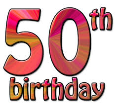 50 birthday clip art