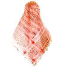 red and white scarves