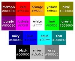 renk isimleri