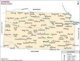 map of cities in kansas