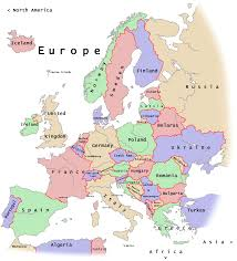 european continent map