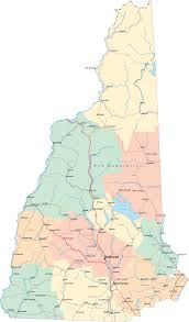road map of nh