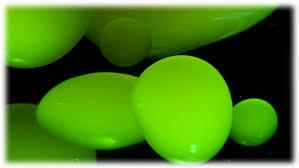 green lava lamps